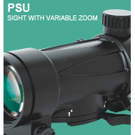 Sight with variable zoom PSU